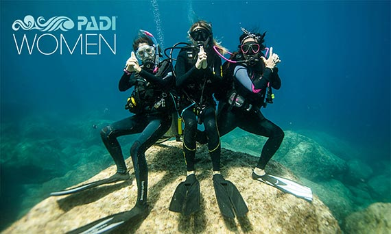 PADI Women's Dive Day in Amed with Ecodive Bali