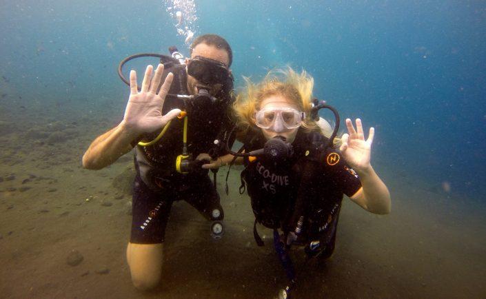 Ecodive Bali Diving - Sophie & François, au top dans l'eau !!!