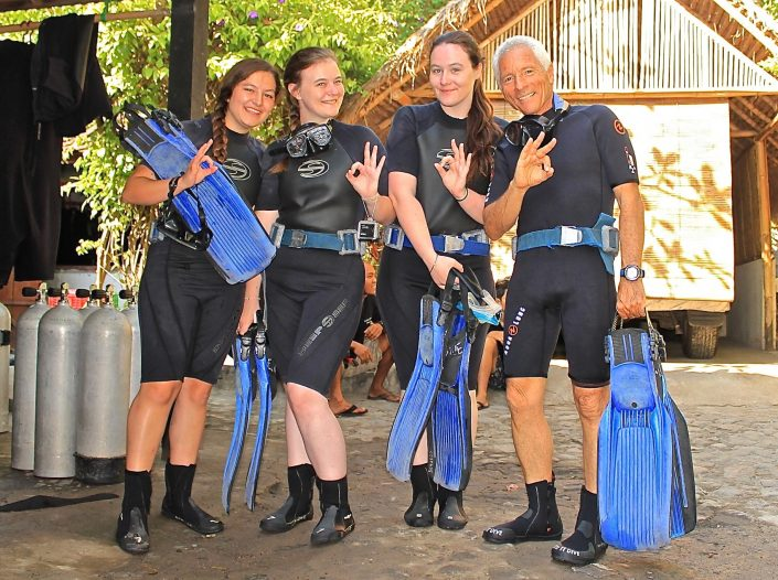 Ecodive Bali Diving With Alejandra Campos, Constance Boullier, Sophie Boullier and Michael Mish